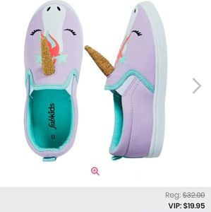 Girls 11 FabKids Unicorn Slip On Shoes
